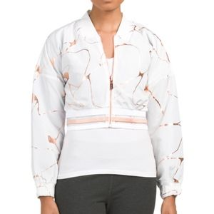 NWT Lime & Vine White and Rose Gold Cropped Jacket
